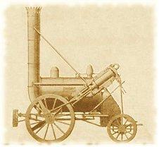 Dampflokomotive – The Rocket – von George         Stephenson